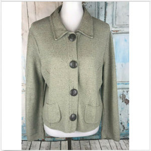 Anthropologie Willow Cardigan Sweater Green S/M